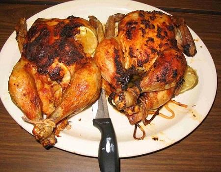 como cortar un pollo en presas