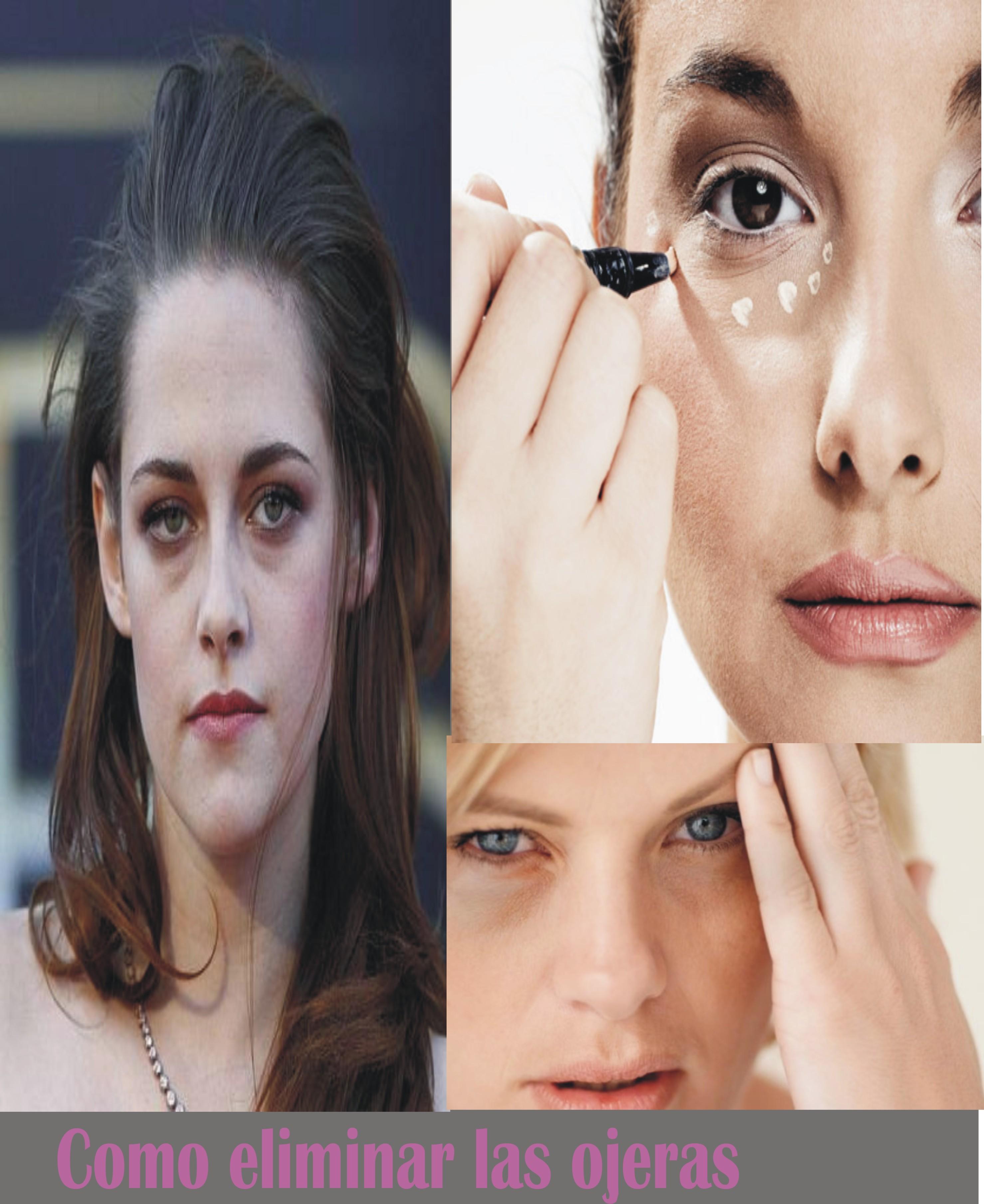 La máscara a los ojos el aceite de oliva