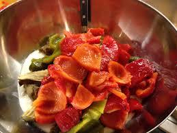 tarato crema de berenjenas pimientos rojos