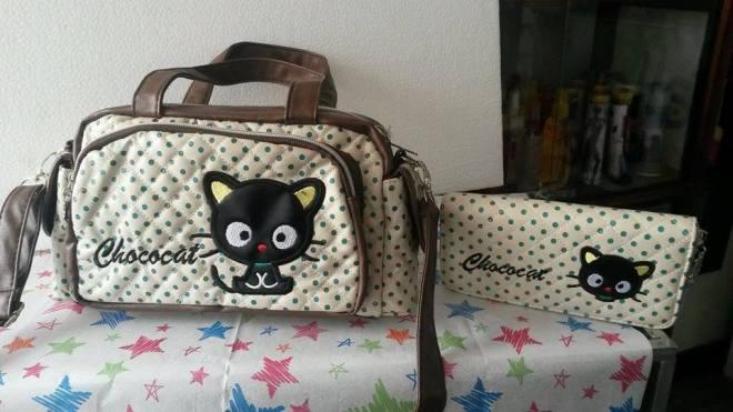 bolsos y billeteras choco cat